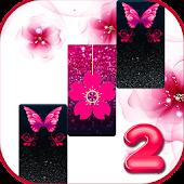 Gạch đàn piano bướm màu hồng long lanh 2019 Mod