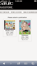 """Photo: Both the weekly flyer and the """"Happy & Healthy"""" catalogue can be easily viewed on mobile devices."""