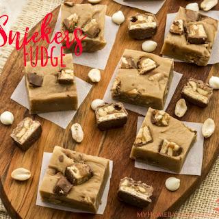 Peanut Butter Snickers Fudge.