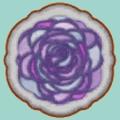 バラのステンドグラスラグ(ホワイト)