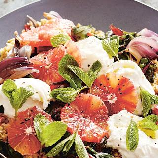 Blood Orange, Burrata and Freekeh Salad Recipe