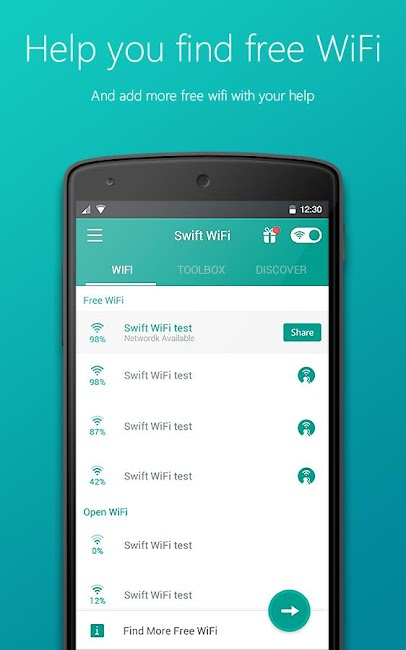 #4. Swift WiFi:Global WiFi Sharing (Android)