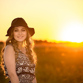 You are my Sunshine by Ann Cockerham - People Family ( sunset, daughter, springtime, portrait,  )