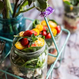 Easy Layered Mediterranean Orzo Pasta Salad.