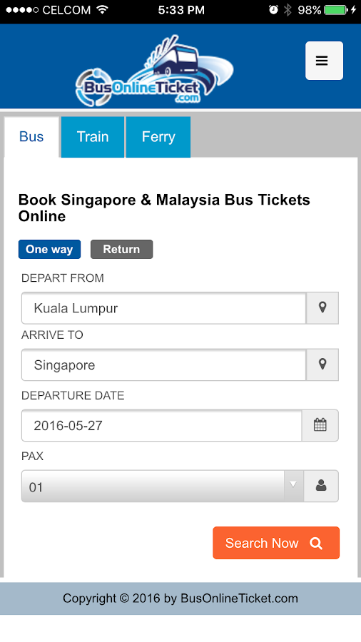 BusOnlineTicket- screenshot