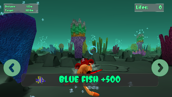 Cat Leo's Fish Hunt Water Race - screenshot