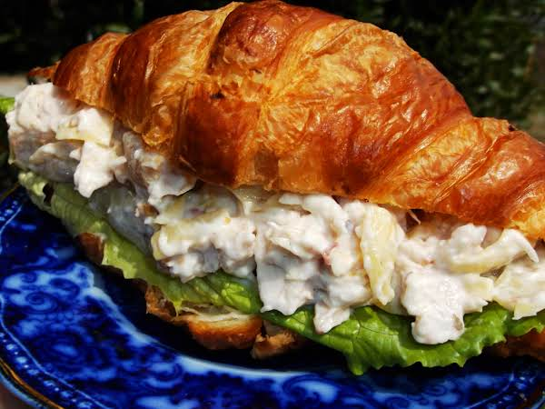 Bacon Artichoke Chicken Salad Croissant Recipe