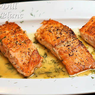 Lemon~Dill Beurre Blanc Salmon.