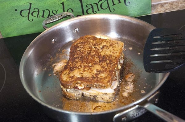 Cook for about 5 minutes per side, until the bread is golden and the...