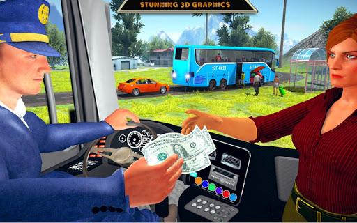 offroad bus driving simulator 2019: mountain bus screenshot 3