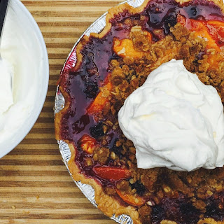 Stone Fruit + Blackberry Crumble Pie