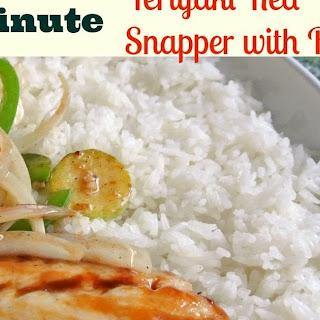 5 Minute Teriyaki Snapper & Rice