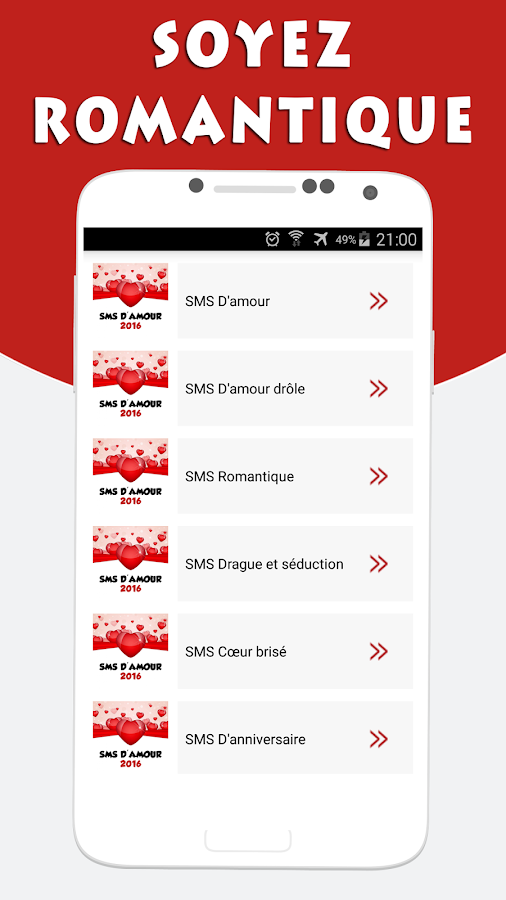 Super SMS d'Amour et Drague - Android Apps on Google Play RU83