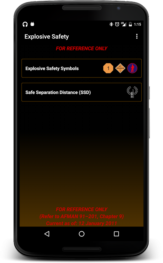 Explosive Safety- screenshot
