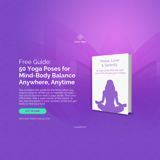 Landing page templates by leadpages yoga ebook page preview template fandeluxe Gallery