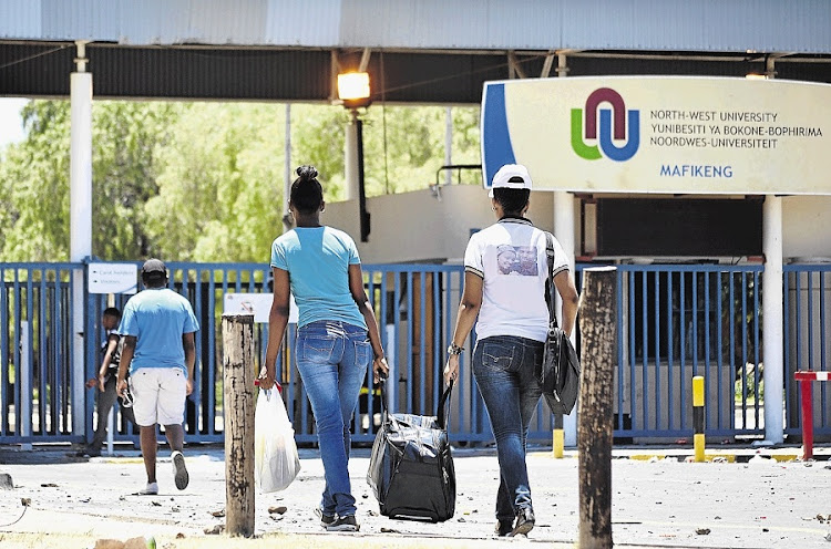 Students at North West University's Mahikeng campus. Picture: SOWETAN