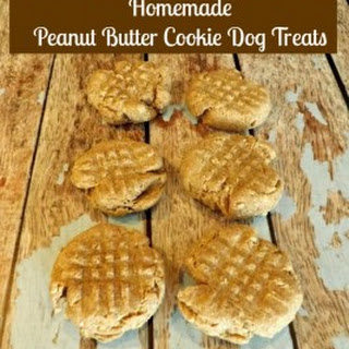 Homemade Peanut Butter Cookie Dog Treat.