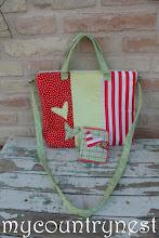 Photo: borsa cartella rosso e verde