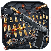 Unduh Gun and Bullet Keyboard Theme Gratis
