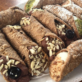 Chocolate Almond Mousse Cannoli.