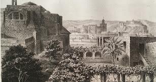 Almería 1850. Grabado de Francisco Javier Parcerisa.