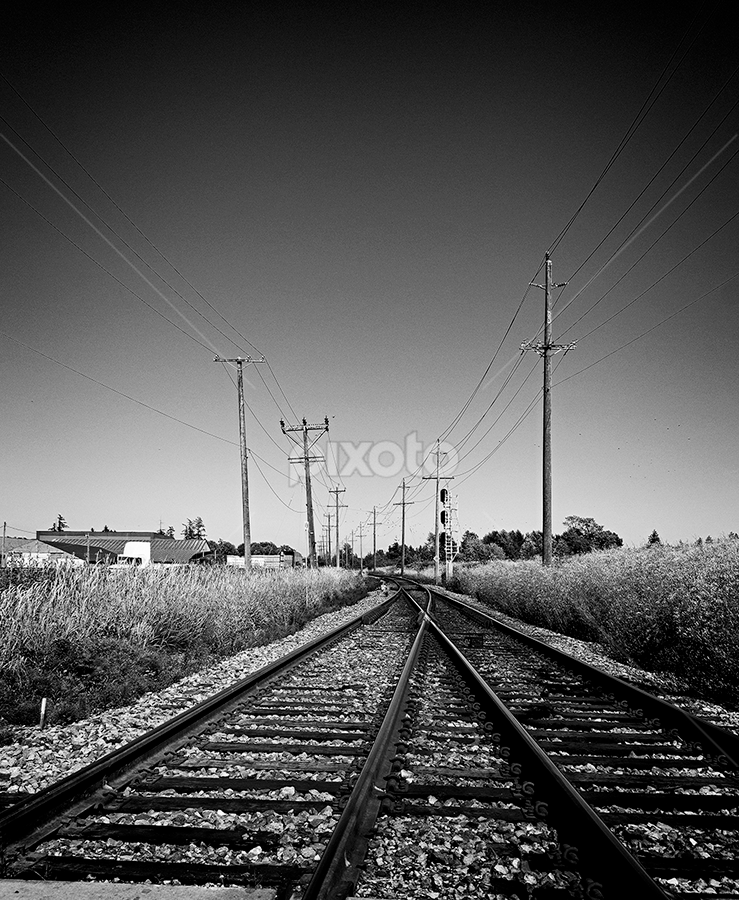 on the tracks by Lennie L. - Transportation Railway Tracks