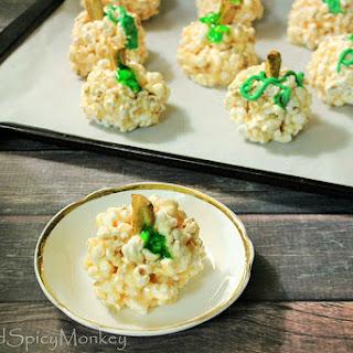 Pumpkin Marshmallow Popcorn Balls Recipe