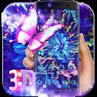紫霓虹蝴蝶3D主題 icon