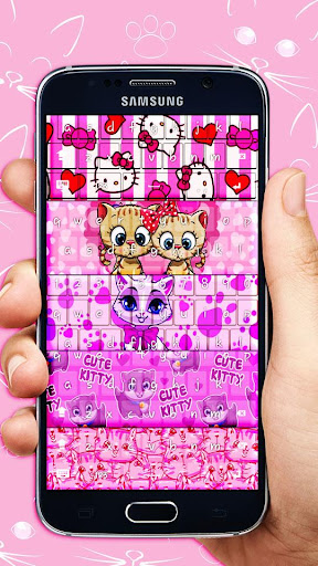 Pink Kitty Keyboard Theme for PC