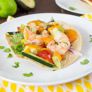 Sriracha Mango Shrimp Tacos