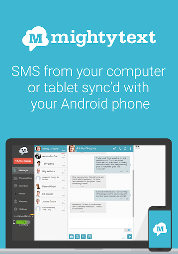 SMS from PC / Tablet & Sync Text from Computer 15.10 screenshots 1