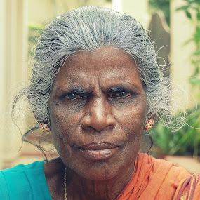 tough lady by Saravanan Veeriah - People Portraits of Women ( old lady, strong, strong lady., lady, women, portrait )
