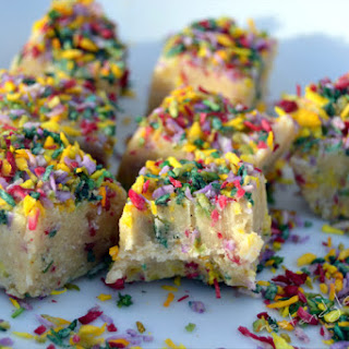 Cashew Vanilla Fudge with Natural Sprinkles