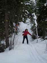 Photo: Downhill fun!! 150M bog - Larch Hills