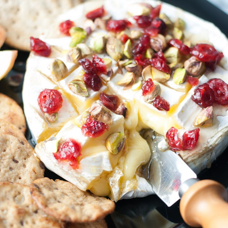 Baked Brie w/ Honey, Cranberries, & Pistachios Recipe | Yummly