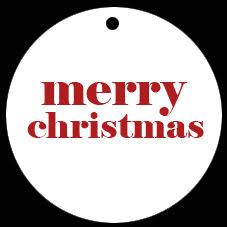 Juldeco - merry christmas, röd