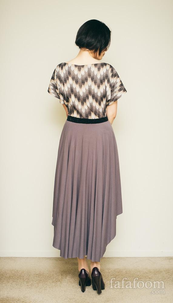 Result: High-Low Circle Skirt Dress - DIY Fashion Garments | fafafoom.com