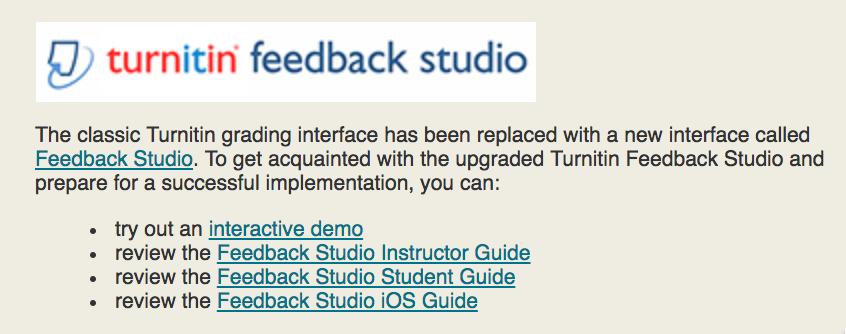 Turnitin's Feedback Studio