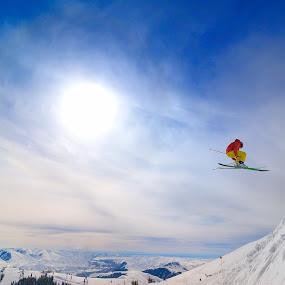 Skiing in Sun Valley Idaho by Tory Taglio - Sports & Fitness Snow Sports ( baldy, ski resort, powder, ketchum, sun valley, skier )