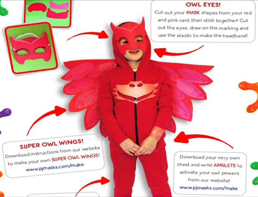 Download the instructions to make your own DIY PJ Masks Costumes perfect for Halloween!