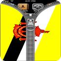 Brunei flag Zipper Screenlock icon