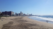 The popular stretch of beach front in Durban, the Golden Mile