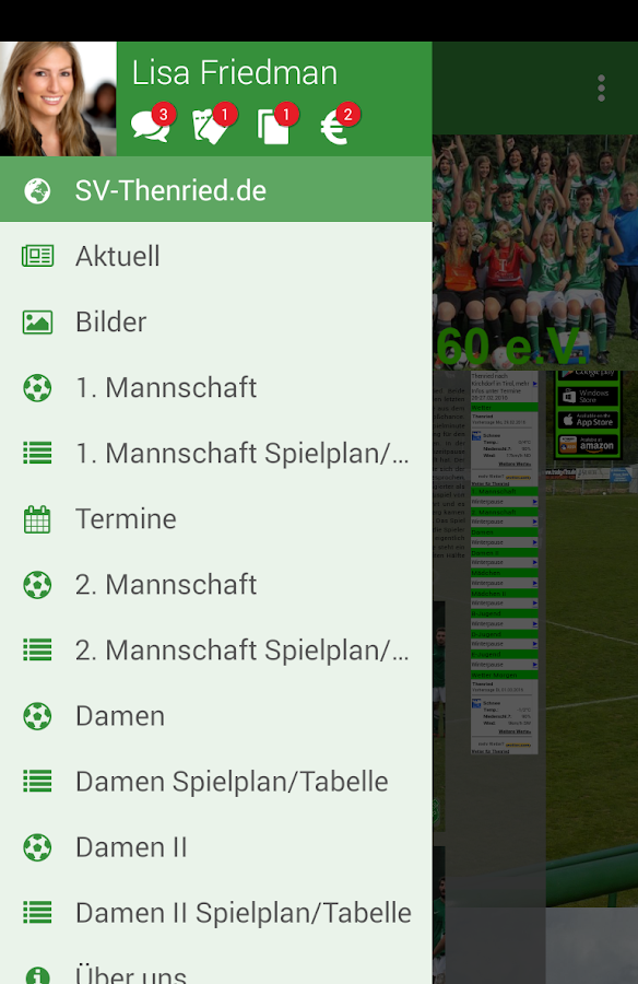 SV Thenried 1960 e.V.- screenshot