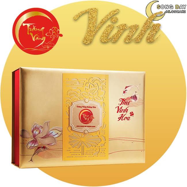 Hộp Kinh Đô trăng vàng hoàng kim vinh hoa vàng