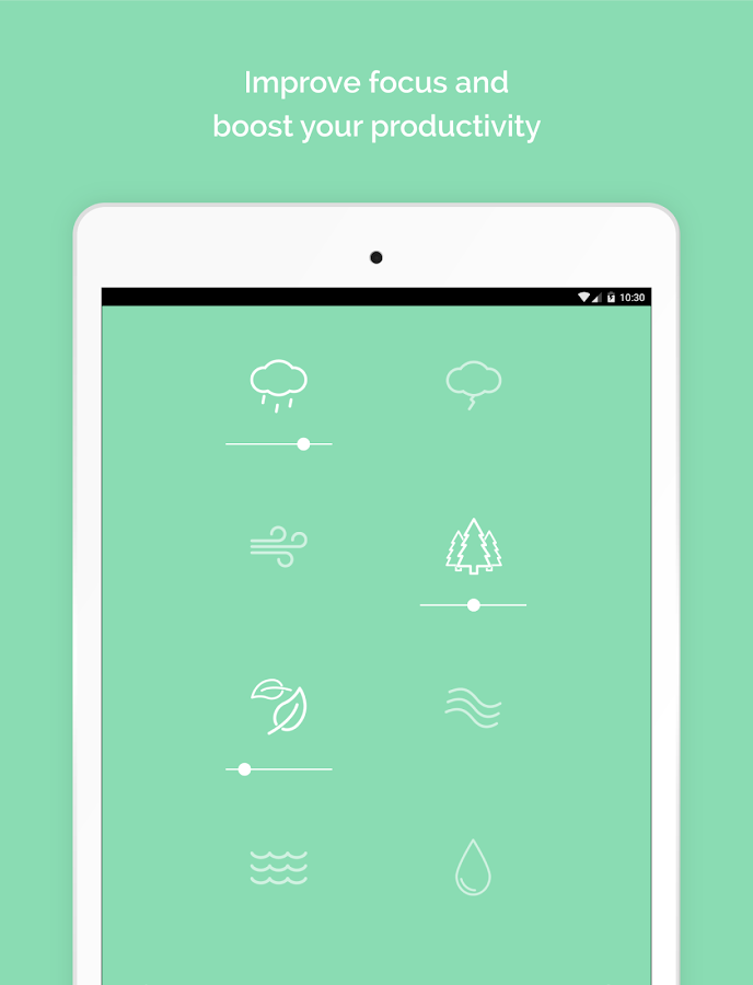 Noisli - Focus, Concentration & Relaxation – скриншот