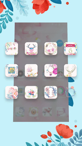 Beautiful Pink Girly Flowers theme & wallpapers - screenshot