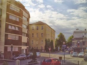 Photo: Das Fichte-Gymnasium im Winkel von Goldberg- und Bergstraße.