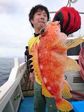 """Photo: """"モリスギさん""""、得意の根魚!"""