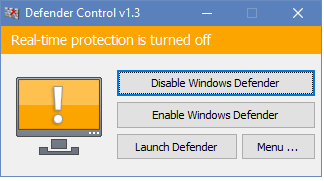 tắt real time protection