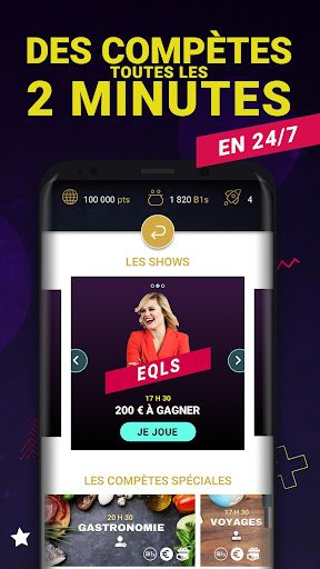 Bethewone - Live 24/7 Quiz Show et Gain Cash 1.4.0 screenshots 2